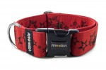 Halsband Stars - Farbe Royal Red
