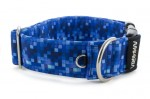 Halsband Digital Blue - Detail des Halbrings