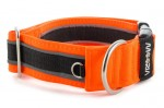 Halsband Reflex Neon Orange II - Detail des Halbrings