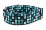 Halsband Cyan Dots - Detail des Musters