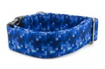 Halsband Digital Blue - Detail des Musters