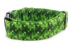 Halsband Digital Green - Detail des Musters