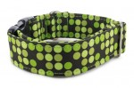 Halsband Bright Green Dots - Detail des Musters