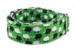Halsband Sheep Dream Green - Detail des Musters