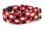 Halsband Sheep Dream Red - Detail des Musters