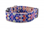 Halsband Vitrage Blue - Detail des Musters