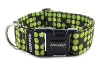 Halsband Bright Green Dots