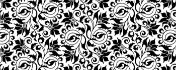 Abstract Flower Black